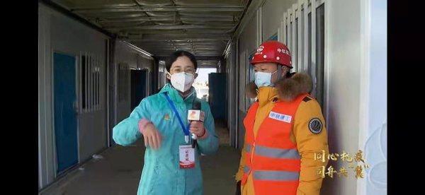 作为中国中铁黄庄公寓水电项目负责人刘保辉同志接受记者采访